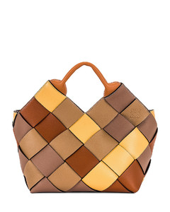 Woven Basket Small Bag in Tan