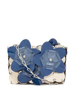 Sparkle flower-appliquésequinned shoulder bag