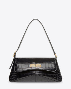 Woman Crystal-embellished Leopard-print Satin Clutch