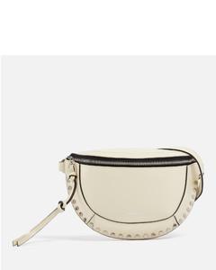 Woman Crystal-embellished Leopard-print Satin Clutch