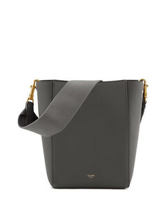 Small Sangle Bucket Bag In Grained Calfskin