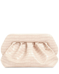 Bios Croc Embossed Faux Leather Clutch