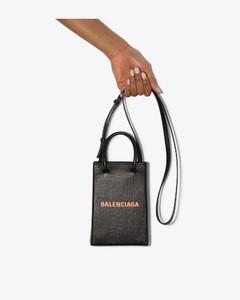 black shopping phone holder bag