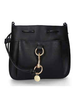 Handbag HOBO Leather Logo black