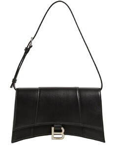 Baguette Hourglass Grained Leather Bag