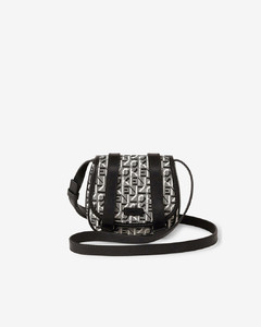 Courier mini jacquard messenger bag