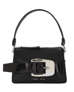 Small Textured Leather Top Handle Bag