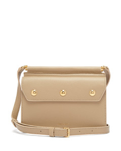 Title mini grained-leather cross-body bag