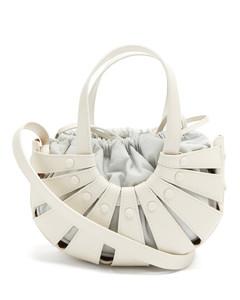 The Shell leather basket bag