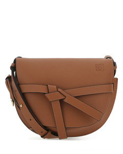 Brown leather small Gate crossbody bag