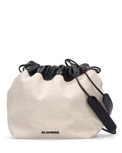 Sm Linen & Cotton Canvas Crossbody Bag