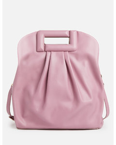 Small Tri-tone Canvas and Leather TB Bag