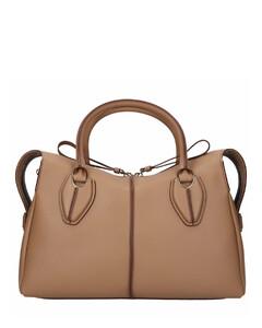 Handbag D-STYLING M Calfskin Logo grey