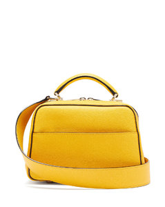 Serie S small grained-leather bag