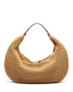 Sasha shearling-fleece shoulder bag