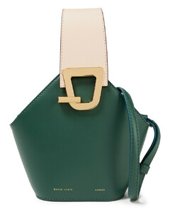 Woman Johnny Two-tone Textured-leather Bucket Bag
