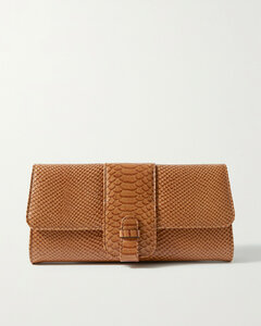 Croc-Embossed Leather Hale Cross Body Bag