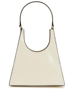 Rey crocodile-effect leather top handle bag