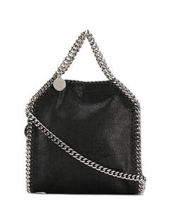 FOLDED LEATHER SHOPPER BAG