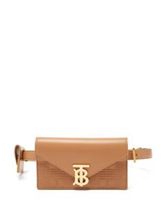 Envelope quilted-leather belt bag