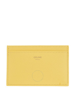 Ladies Yellow Grained Calfskin Card Holder