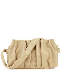 Vague cream leather shoulder bag
