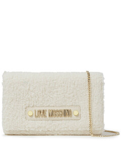 Woman Faux Shearling Shoulder Bag
