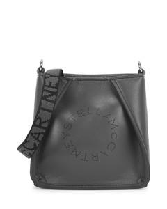 Stella Logo micro faux leather cross-body bag