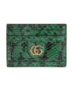 绿色&黑色GG Ophidia Viper卡包