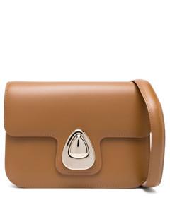 Leather T Twist Hobo Shoulder Bag