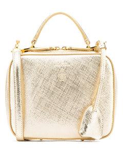 Platinum leather baby Laura handbag