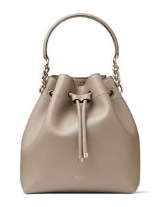 HEM Faux Fur Shoulder Bag - Beige