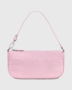 Rachel Croco Embossed Leather Bag