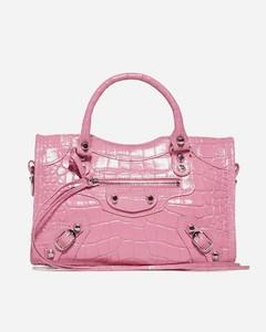 Mini City crocodile-effect leather bag