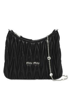 MatelasséLeather Shoulder Bag W/crystal