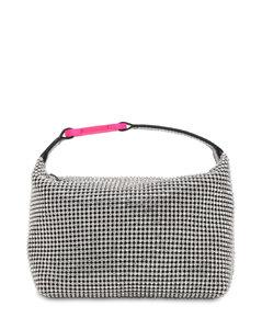 Moonbag Crystal Mesh Top Handle Bag