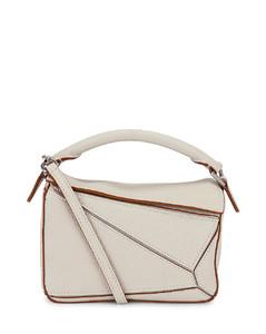 Puzzle Mini Bag in White