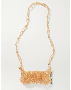 Bubble Phone Beaded Shoulder Bag
