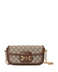 Tris crystal-embellished top handle bag