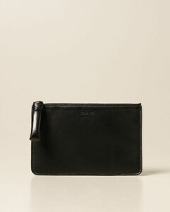 clutch bag in smooth leather