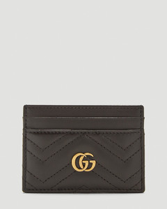 GG Marmont Card Holder in Black