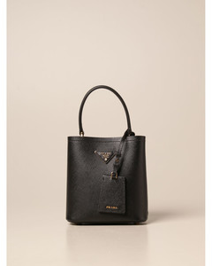 bucket bag in saffiano leather