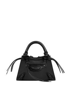 Black neo classic mini top handle bag