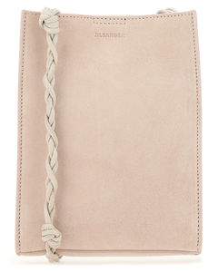 Powder pink suede small Tangle shoulder bag