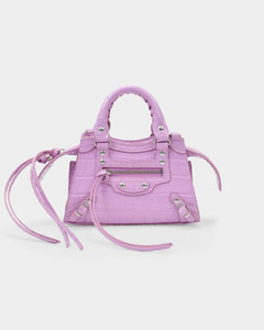 Neo Classic City Nano Bag in Pink Shiny Embossed Leather