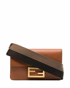 Baguette leather crossbody bag