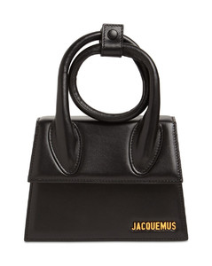 Le Chiquito Noeud Leather Shoulder Bag