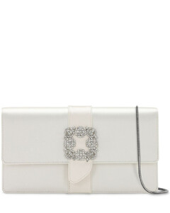 Capri Embellished Silk Satin Clutch