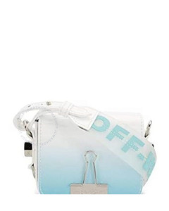 Light Blue Ladies Gradient-effect Baby Flap Bag
