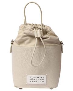 Grained Leather Bucket Bag